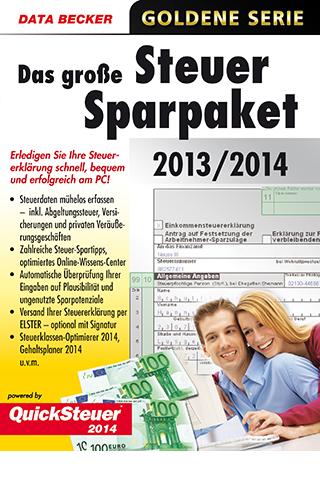 Das große Steuer-Sparpaket 2014 von Data Becker wird eingestellt
