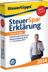 Steuer-Spar-Erklärung 2014 für Selbstständige, Windows-Version
