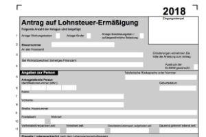 Formular Lohnsteuerermassigung Lst3 2018 Als Download Meinesteuersoftware De