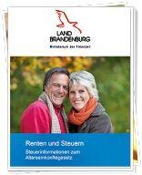 Faltblatt Renten und Steuern 2011 (c) FinMin Brandenburg