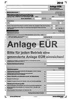 Anlage EÜR (Einnahmeüberschussrechnung )